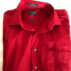 arrow classic fit poplin button-down shirt